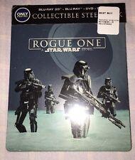 Rogue One Star Wars 3D Blu-ray DVD Digital Best Buy Steelbook New