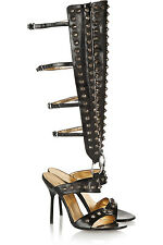 Dolce & Gabbana Authentic Leather Stiletto Spiked Gladiator Sandal size 8.5 NWOT