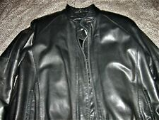Vintage Michael Hoban North Beach Black Leather Motorcycle Biker Jacket 9/10