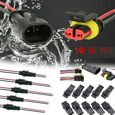 20 X 2/4 Pin Car Waterproof Electrical Connector Plug 20 AWG Wire Marine Outdoor
