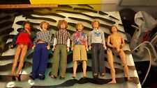 Barbie Dolls Lot of 5 Boys Retro Look with Funky Clothes + 1 Boy for Parts