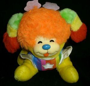 VINTAGE RAINBOW BRITE PUPPY DOG 1983 MATTEL STUFFED ANIMAL PLUSH TOY YELLOW STAR