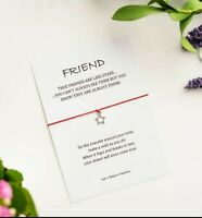 Friend Wish Bracelet, Gift for Friends, True Friends are like Stars, Star Charm