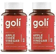 Goli Nutrition - Apple Cider Vinegar ACV Vitamins, 60 Gummies / Bottle(2 Pack)