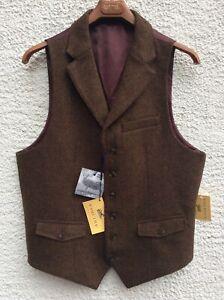 Mens Gurteen All Wool waistcoat  - Conker  - 42R ONLY - BNWT