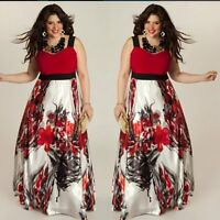 Plus Size Women Sexy Evening Party Ball Prom Gown Formal Cocktail Long Dress New