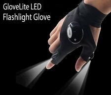 LED Flashlight Fingerless Glove - Camping, Hiking, Emergency Repairs - UK Seller