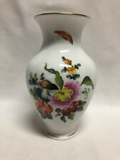 "Herend Hungary Fruits & Flowers Vase 7"" 7018 BFR"