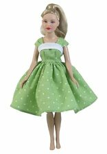 Tiny Kitty Collier Doll Dress in Green Dotted