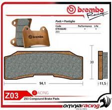 Brembo Racing 07B36640 - Pastiglia Freno Z03 Singola Pinze Monoblocco P4 30/34