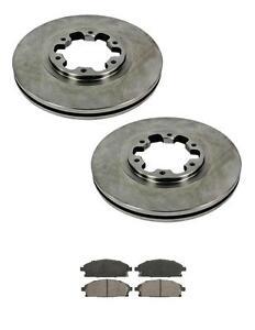 Fits Nissan QX4 02-03 & PATHFINDER 99-04 Front Disc Brake Rotors and Brake Pads