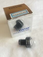 """Evetar Lens N118B0818WM12 F1.8 f8mm 1/1.8"""" CCTV & Video Lens NEW"""