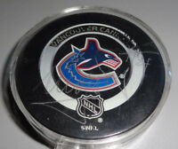 TOMAS MOJIZIS Seattle Thunderbirds Vancouver Canucks Signed Game Used Puck