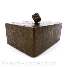 Art Déco Bronze Schatulle Handarbeit Schmuck-Dose Würfel jewelry box 20er 30er