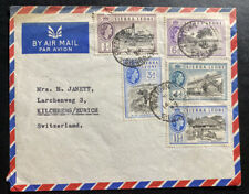1950 Military Forces Freetown Sierra Leone Airmail Cover To Zurich Switzerland