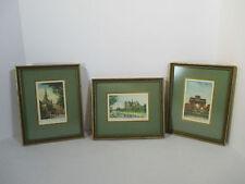 Prints Vintage Paris Lithographs Notre Dame Arc Triomphe Palace Justic Set of 3