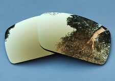 ENGRAVED POLARIZED 24k GOLD MIRRORED REPLACEMENT OAKLEY GASCAN S LENSES