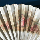 Great Fan Former Mother-of-Pearl Silk Signed A.Lauronce Pattern Cage Antique Fan