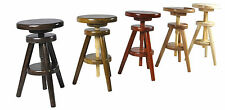 Hocker Massiv Schemel Stuhl Sitz Sitzmöbel Buche 52-70 cm Neu