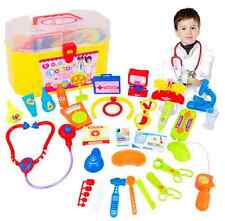 Gift Kids Childrens Doctor Nurses Toy Medical Set Role Play Kit Hard Carry Case