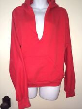 SEATON Pullover Red Hoodie Low V Neck Women's Top Sweatshirt Large Worn Once