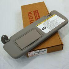New OEM Toyota 14-19 Highlander Driver Gray Sun Visor W/Light 74320-0E074-B0
