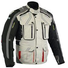 Motorrad Jacke mit Protektoren Herren wasserdicht Sommer Winter Jacke Grau