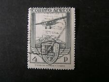 SPAIN, SCOTT # C17, 4p. VALUE 1930 PLANE/CONGRESS SEAL AIR POST ISSUE USED