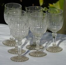 Baccarat - Service de 6 verres à vin blanc en cristal taillé, modèle Dombasle