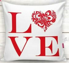 "2 Pieces 18""x18"" Decorative Pillow Case  - LOVE IN LOVE Theme"
