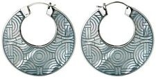Emporio Armani Stainless Steel & MOP Hoop Earrings EGS1291 BNWT $150