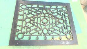 Vintage--Antique---Cast Iron --FLOOR Vent-  Design -Not Cracked