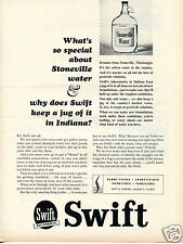 1964 Print Ad of Swift & Co Stoneville Mississippi Softest Water in the Country