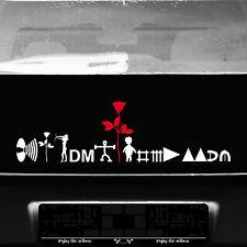 Depeche Mode Tour Motive Set weiß / rot Aufkleber Tattoo Auto Heck Deko Folie