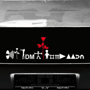 Depeche Mode Tour Motive Set weiß / rot Aufkleber Tattoo Auto Heck Deko Folie