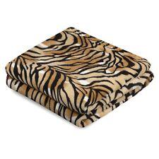 Kuscheldecke Tiger 150 x 200 cm Wohndecke Schlafdecke Sofadecke Decke Mehrfarbig