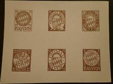 Germany Bayern Old Stamp Proof- Essay Coat Of Arms Brown Mnh