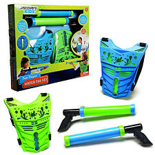 Discovery Kids Toy Two Player Launcher Battle Gun Water Tag Set w/ 2 Score Vests