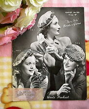 "Vintage 1940s Knitting Pattern Lady's Fair Isle ""Beret & Gloves"" 3 Sets!!!!"