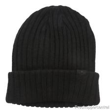 NEW Dockers Therma - Soft Lining Comfy Cable Fisherman Beanie - Solid Black