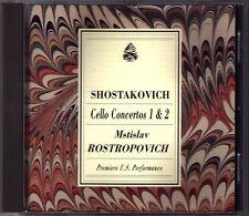 Mstislav ROSTROPOVICH: SHOSTAKOVICH Cello Concerto 1 2 Kondrashin Rozhdestvensky
