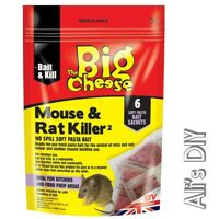 Pasta Bait The Big Cheese Mouse & Rat 6 Sachet Pack Ready for Use