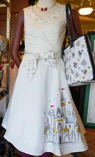 2020 Disney Parks Dress Shop Christmas Holiday Castle White Dress Extra Small XS