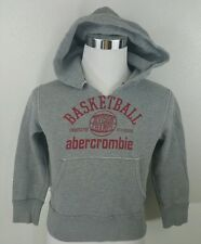 ABERCROMBIE basketball Kids Boys Hoodie gray Sweatshirt Pullover SZ SMALL