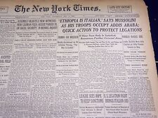 1936 MAY 6 NEW YORK TIMES - ETHIOPIA IS ITALIAN SAYS MUSSOLINI - NT 2111