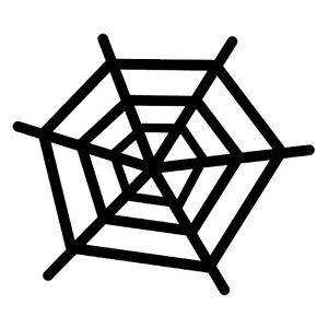 Spiders Webs (Pack Of 5) Halloween Joke Prank Decal Wall Art Sticker Picture