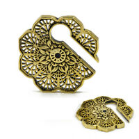 """MANDALA FLOWER 1/"""" 5//8 INCH WHITE BRASS PLUGS EARRINGS GAUGES 1MM Details about  /PAIR 18g"""