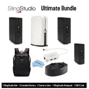SlingStudio Hub Bundle with 3 Camera Links and Backpack