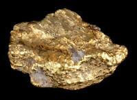 Matrix Specimen Genuine Calif. Alaska Natural Gold Nugget 1.55gr 12.80mm x 8.72m