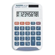 Aurora HC133 Handheld Calculator 8 DIGIT LCD Display School Student Office Math